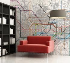 i love maps of all kinds, and would love to cover a wall in this london underground map by digetexhome.com