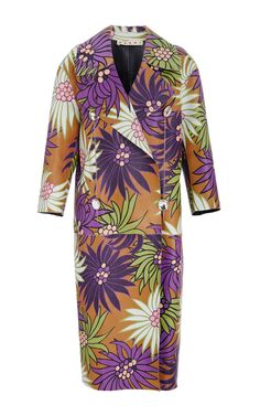 Floral Leather Duster Coat by MARNI Now Available on Moda Operandi