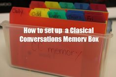 Classical Conversations Memory Box | Nurturing Learning