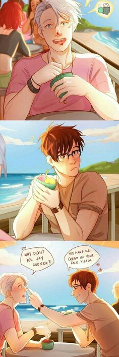Victor/Viktor Nikiforov x Yuri/Yuuri Katsuki / Victuri / Victuuri / Vikturi / Viktuuri / Yuri on Ice / OMG I know where this is supposed to be (I think) I was there about three weeks ago! Anime Ai, Fanarts Anime, Anime Manga, Anime Guys, Katsuki Yuri, Yuuri Katsuki, Victor Y Yuri, Yuri On Ice Comic, Viktor Nikiforov