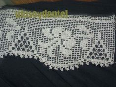 ...crochet filet edging...crochet inspiration ONLY...