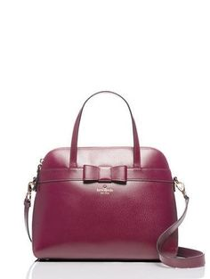 Kate Spade Kirk Park Medium Maise Handbag Red Plum Cross Body Bag. Get the trendiest Cross Body Bag of the season! The Kate Spade Kirk Park Medium Maise Handbag Red Plum Cross Body Bag is a top 10 member favorite on Tradesy. Save on yours before they are sold out!