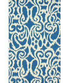 nuLOOM : blue 'Niko Ikat' 7' 6'' x 9' 6'' area rug