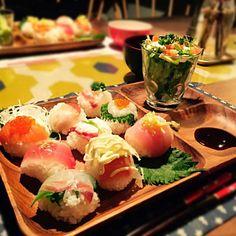 ひな祭りやこどもの日に♡簡単お好み手まり寿司〜(=゚ω゚) - 21件のもぐもぐ - 手まり寿司♡ by yusaoriria