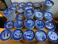 Royal Copenhagen - Christmas Plates -i wish i had this collection!