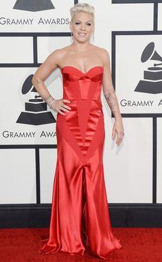 Pink in Johanna Johnson | 2014 #Grammys