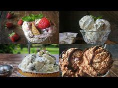 4 Συνταγές για ΕΥΚΟΛΟ Σπιτικό Παγωτό - Homemade Ice Cream 4 Ways - YouTube