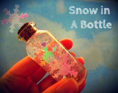 """Miniature Bottle Charm: """"Snow in a Bottle"""" I WishinOnKristyn"""