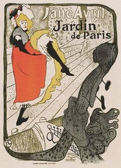 Jane Avril poster by Toulouse Lautrec Henri de