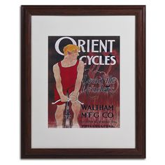 Bike 42 Matted Framed Vintage Advertisement