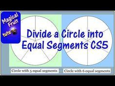 Divide a circle into