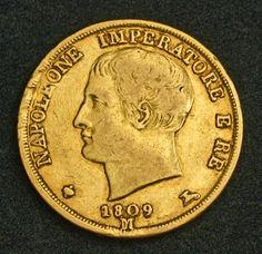 Italy Kingdom of Napoleon Bonaparte 20 Lire Gold Coin