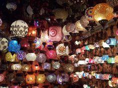 mosaic lamps!