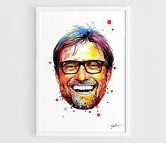 Jurgen Klopp Liverpool FC (Borussia Dortmund BVB) - A3 Wall Art Print Poster of the Original Watercolor Painting Football Poster by NazarArt