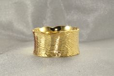 Wedding Band,Handmade Wedding Ring, GOLD RING 14K,Diamond Cutting texture Ring, 11mm Wide Gold Ring, 14k solid Gold Ring, Mens Wedding Ring by LIRANSHANI on Etsy