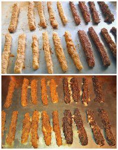 Healthy Baked Flax Mozzarella Sticks