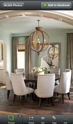 Love this light fixture - such impact!