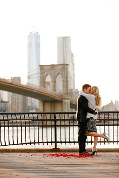 NYC Proposal, Brooklyn Bridge Park Proposal, Brooklyn Bridge Engagement Session