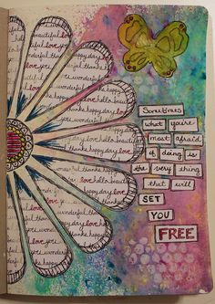 Barb created this Art Journal page using the Frosted Designs November Mixed Media Paper Kit frosted-designs.com