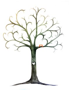 Free Thumbprint Tree Guest Book — Crafthubs