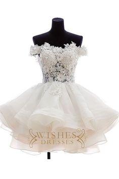 Short Prom Dresses,white Prom Dress,off Shoulder Prom Dress,party Dress,homecoming Dress White Homecoming Dresses, Cute Prom Dresses, Pretty Dresses, Beautiful Dresses, Short Dresses, Dresses 2016, Maxi Dresses, Formal Dresses, Short Wedding Dresses