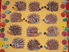 zvirata podzimni vyrobky podzim  : jezecci 150x150 Ježečci