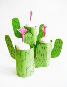Printable Cactus Mini-Cupcake Stand   Oh Happy Day!