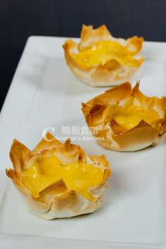 Traditional Chinese Egg Tarts.  Gene & I always get them at the buffet and have been wanting to make our own.  Finally found some recipes to test out ..