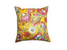 Bright Mustard Cotton Cushion