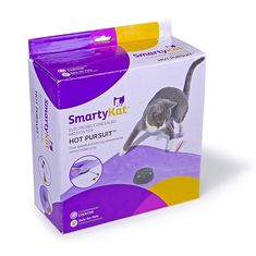 SmartyKat Hot Pursuit Cat Toy Concealed Motion Toy *** Check out this great product. (This is an affiliate link) Hobby Supplies, Pet Supplies, Cat Exercise Wheel, Dolls House Figures, Purple Bird, Cat Scratching Post, Catnip Toys, Cat Mouse, Electronic Toys