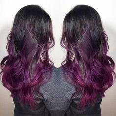 black purple ombre hair