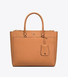 Tory Burch Modern Classic Double Zip Tote For Women Scratch Resistant Leather With Plenty Of Pockets And An Optional Strap Versatility On