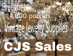 Brought in 4,000 pounds of Vintage Jewelry Supplies! Swarovski, beads, semi-precious cabs, chain, filagree, lucite, plastic, brass, seed-beads, etc. WHOLESALE ONLY Must haveState Tax ID (from any …