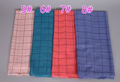 Women's printe small plaid geometric viscose scarf hijab multicolor popular winter wrap 12 color scarves/shawls 10pcs/lot
