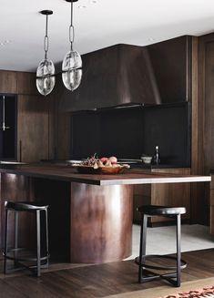 Minimalist Apartment, Minimalist Kitchen, Formal Living Rooms, Home Living Room, Rammed Earth Homes, Timber Kitchen, Interior Styling, Interior Design, Estilo Retro