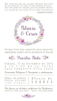 Resultado de imagen para Mensaje original invitacion boda