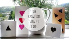 Geometric stamped cards