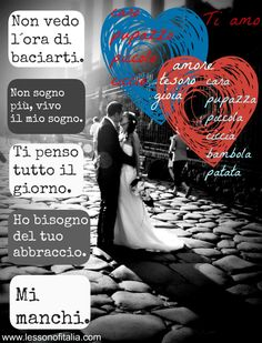 Send a #love message in #Italian. Phrases for every occasion.