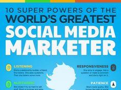 10 Powers of the World's Greatest Social Medi Marketer by Barry Feldman via Slideshare