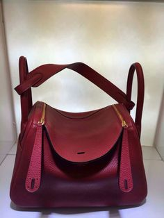 Hermes Handbags Outlet With Free Shipping-Hermes Mini Lindy Bag 26CM in Ruby Togo Leather