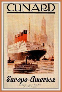 Europe ~ America ______________________________ Cunard Line