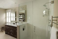 Image result for shower with glass wall next to sink