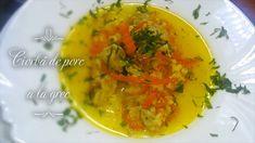 Ciorba de porc a la grec Thai Red Curry, Ethnic Recipes, Youtube, Greece, Pork, Youtubers, Youtube Movies