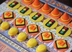 Construction-Themed Fondant Cupcake Toppers - Perfect for Cupcakes, Cookies and Other Edibles by Les Pop Sweets on Gourmly