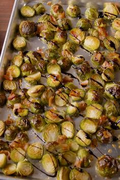A perfect side for any night of the week - How to Make Bacon Balsamic Brussels Sprouts