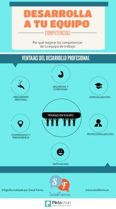 Desarrollo profesional de tu equipo #infografia #infographic #rrhh