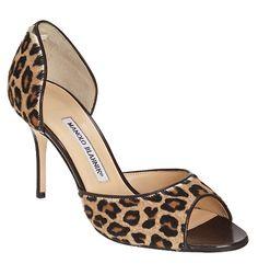 Manolo Blahnik d'orsay pumps leopard