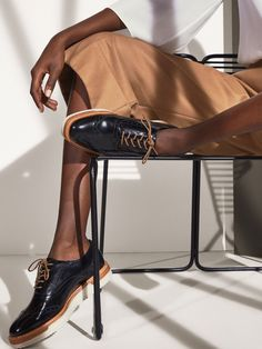 Autumn Spring summer 2017 Women´s BLACK ANTIK LEATHER OXFORD SHOES at Massimo Dutti for 110. Effortless elegance!