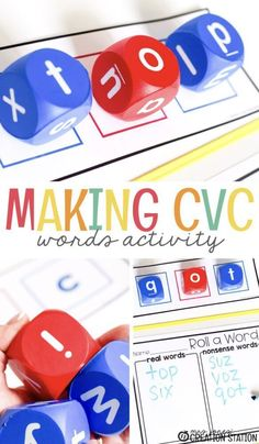 As children start to read, they need activities to strengthen their vocabulary. Here is a wonderful literacy activity for your literacy center. Making CVC words is easy with these phonics dice and this free printable. It creates a fun activity where kids can make words, even those that are nonsense words. It helps the children understand how to create words, especially CVC words. Get your free printable today. #cvc #cvcwords #freeprintable #literacy #literacyactivity #literacycenter