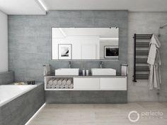I Schuhplattler, tradiční švýcarský tanec, byste si mohli v koupelně HELVETIA zatančit. Na velkorysých 15 m², je nejen opravdu dostatek životního komfortu, ale navíc i vše, co byste v domácí koupelně mohli potřebovat - od pisoáru, přes dvě umyvadla, toaletu, až po sprchový kout s bezmála půl metru širokou sprchovou hlavicí.Jméno této koupelny odkazuje na Švýcarsko. Stejně jako se ve Švýcarsku často odrážejí přírodní motivy a materiály kombinované s moderním stylem i v koupelně HELVETIA našly… Toilet Design, Bath Design, Home Interior, Bathroom Inspiration, Bathroom Bath, Modern Bathroom, Decoration, My House, Life Hacks